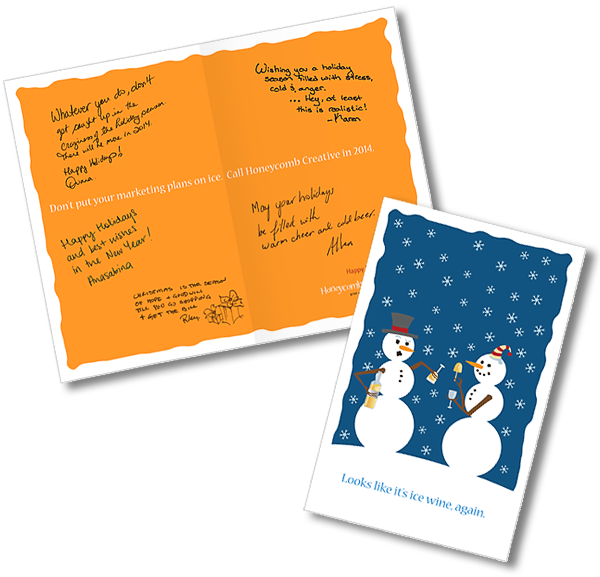 Honeycomb Christmas Card Postcard
