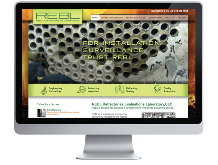 REBL Refractories Evaluations Laboratory Ltd. Website
