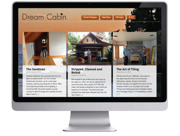 Dream Cabin Website