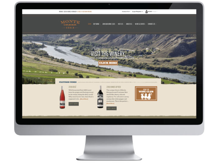 Monte Creek Ranch Winery Website