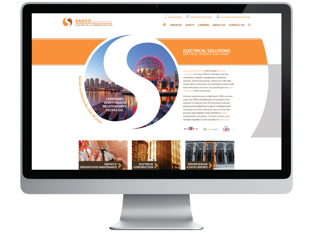 Sasco Contractors Ltd. Website