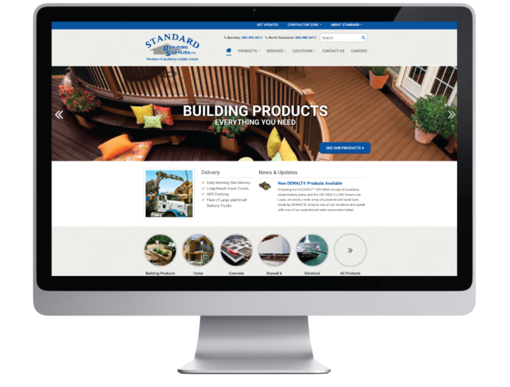 Standard Building Supplies Ltd. Website