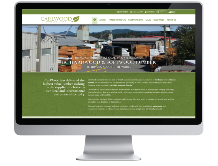 CarlWood Lumber Limited Website