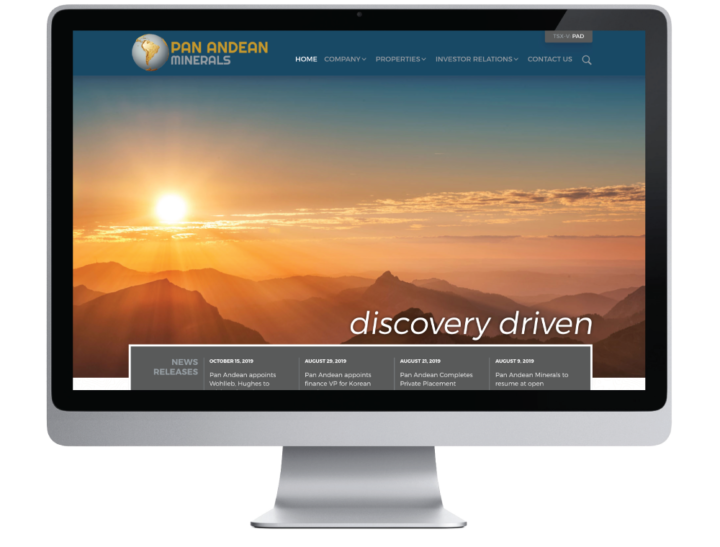 Pan Andean Minerals Ltd. Website