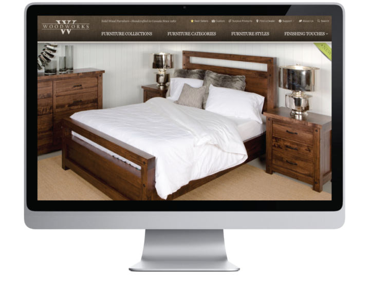 Woodworks Solid Wood Furniture Mfg. Website