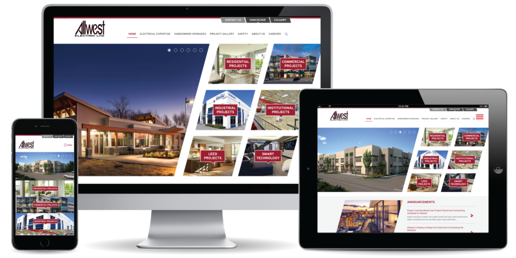 Allwest Electric Ltd. Website