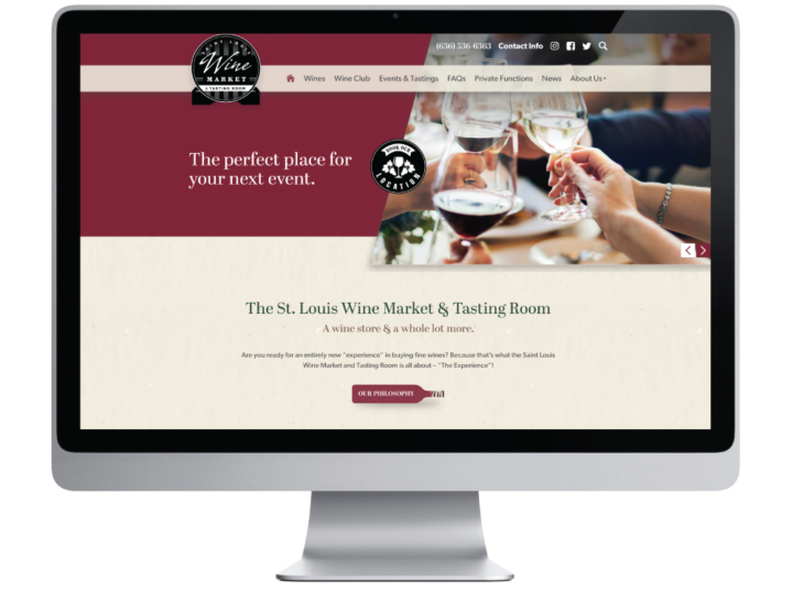 St. Louis Wine Market and Tasting Room Website