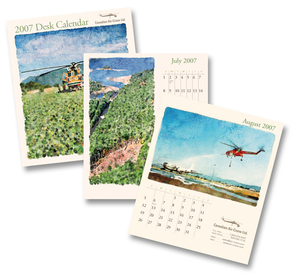 Canadian Air-Crane Ltd. Desk Calendar