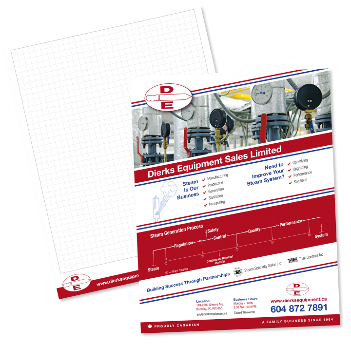 Dierks Equipment Sales Ltd. Sales Sheet