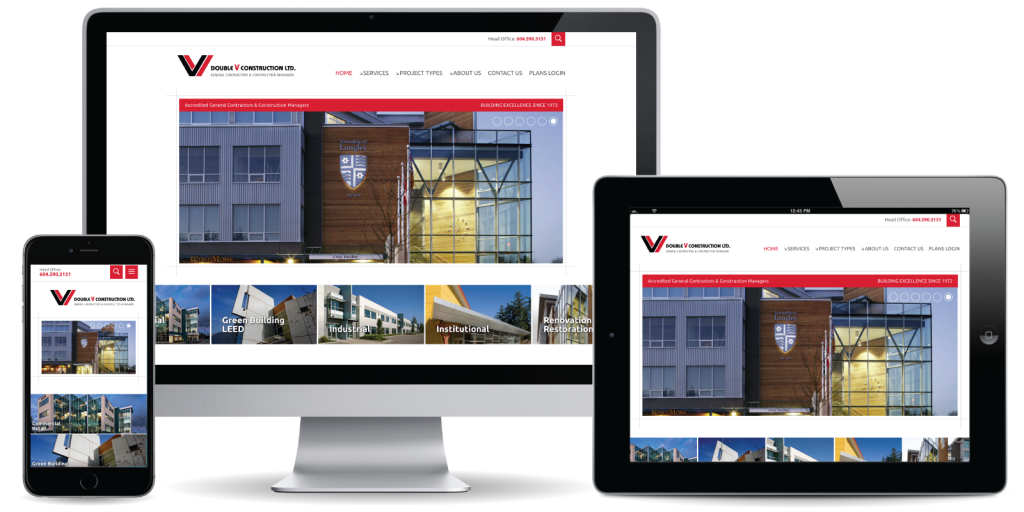 Double V Construction Ltd. Website