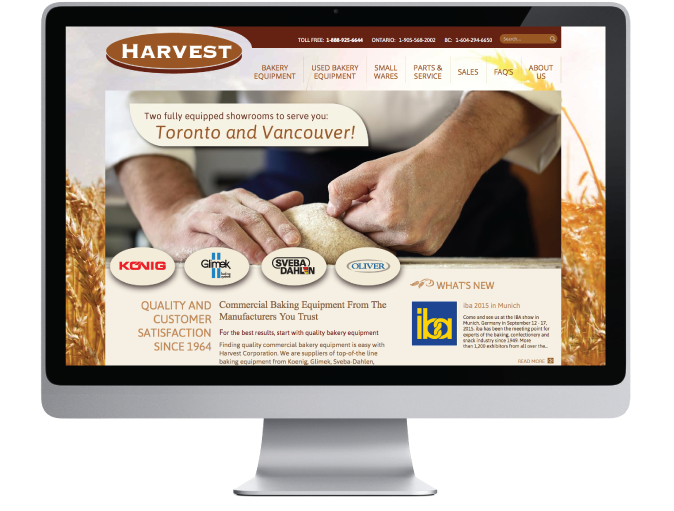 Harvest Corporation Website