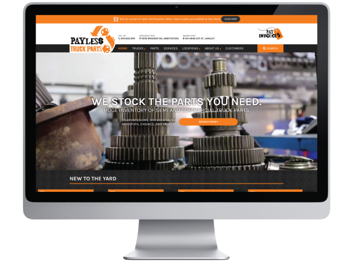 Payless Truck Parts Website