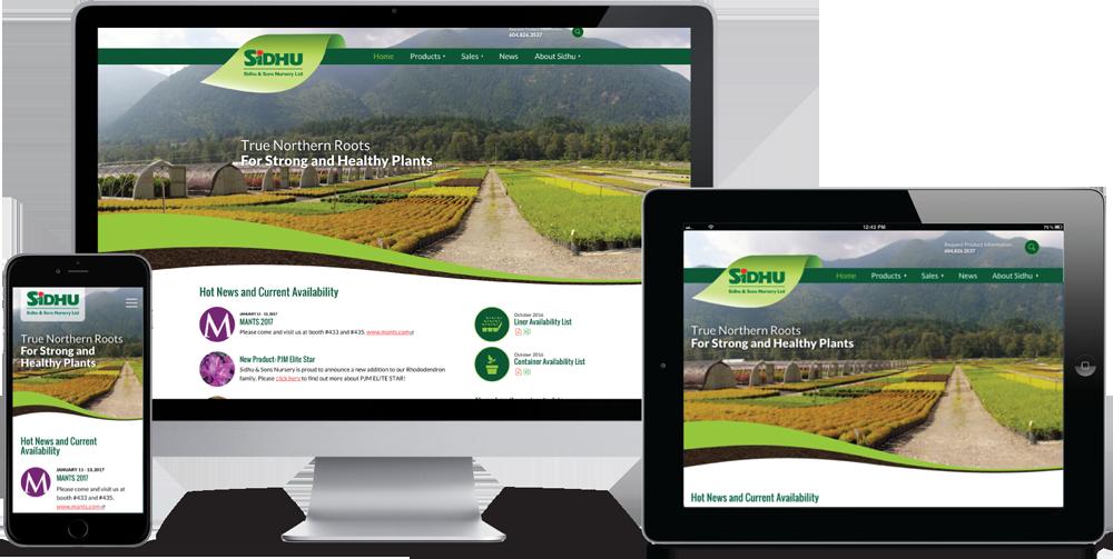 Sidhu & Sons Nursery Website