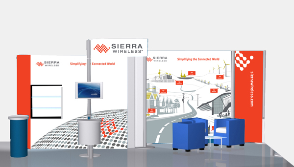 Sierra Wireless Trade Show Booth