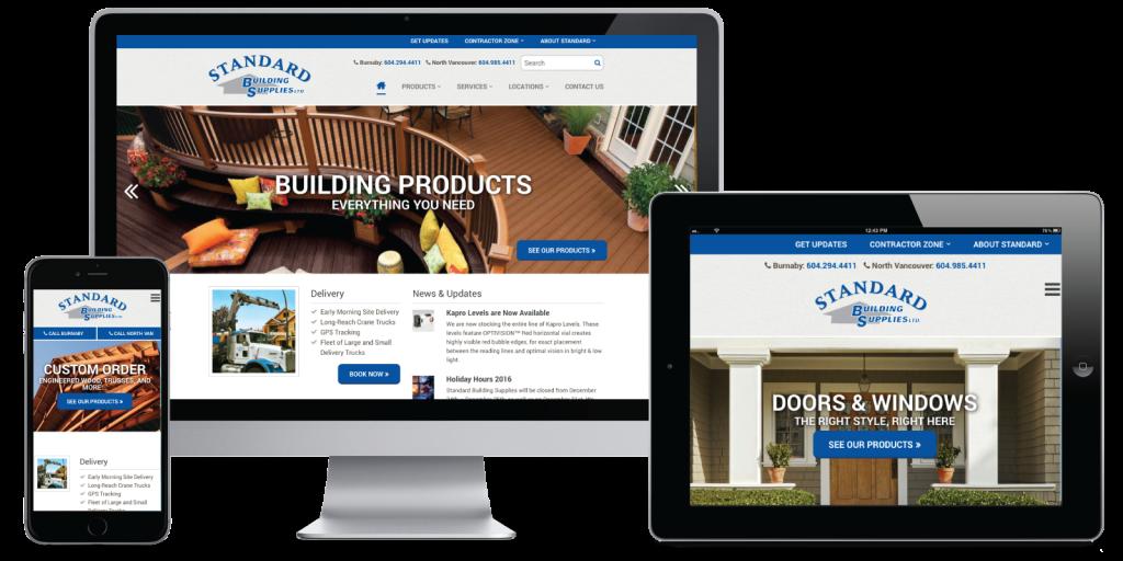 Standard Building Supplies Ltd. Website