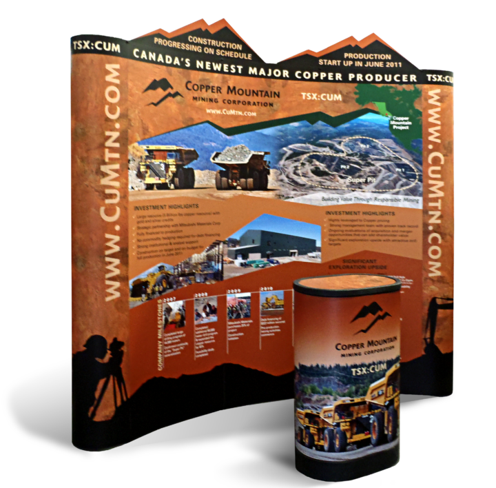 Copper Mountain Mining Corporation Trade Show Booth