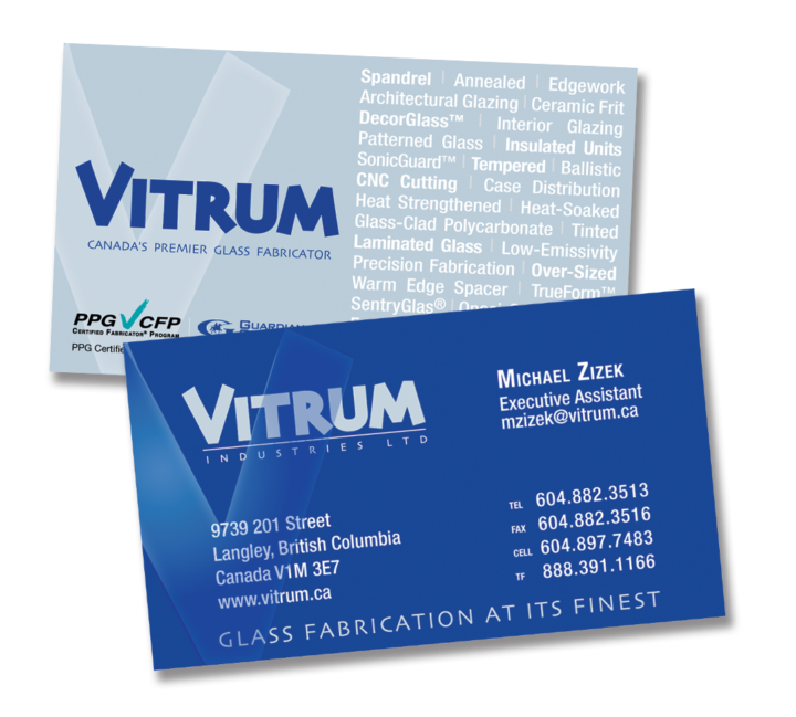 Vitrum Industries Ltd. Identity Package